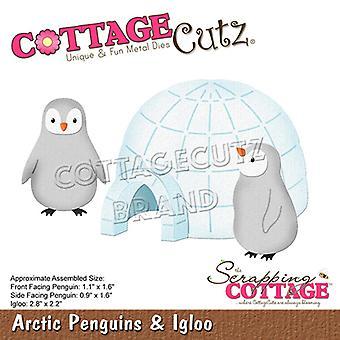 Sloop Cottage Arctic Penguins & Iglo