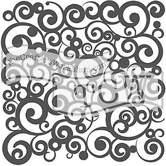 The Crafter's Workshop Cosmic Swirl 6x6 Inch Stencil