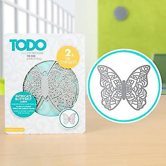 TODO Die Template Set Intricate Butterfly Large