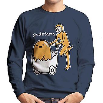 Gudetama Nisetama San Eggshell Pram Men's Sweatshirt