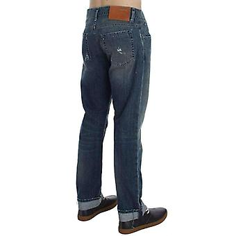 Blue Wash Cotton Denim Regular Fit Jeans - SIG3610309