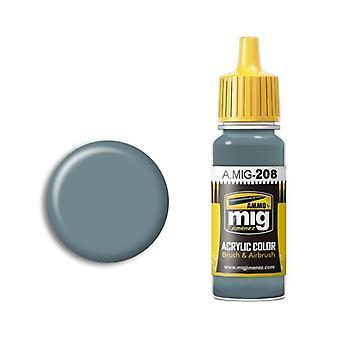 Migアクリルペイントによる弾薬 - A.MIG-0208 FS 36320 ダークコンパスゴーストグレー(17ml)