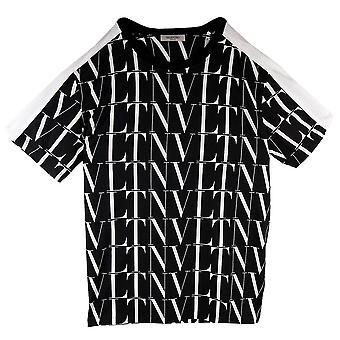 Valentino Logo Times Print T Shirt schwarz/weiß