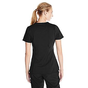 Cherokee Women's Infinity Crew Neck Scrubs Shirt, Black, Medium
