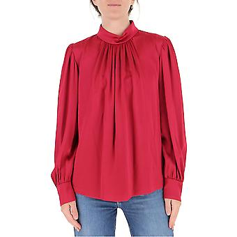 Dries Van Noten 107901042304 Dames's Rode Zijden Blouse