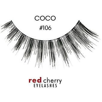 Red Cherry False Eyelashes - #106 Coco - Perfect Curl Handcrafted Lashes