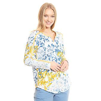 Féraud Casual Chic 3201158-16360 Women's Skyblue Print Floral Cotton Pyjama Top