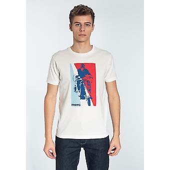 Merc GLYNDER, Heren's Katoen T-shirt met Scooter Print