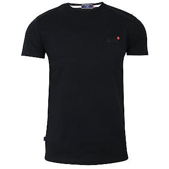 Superdry miehet's ol vintage emb musta t-paita