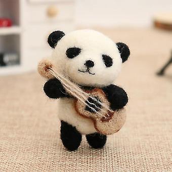 اليدوية المبتدئين الصوف كزة دبوس الباندا الهامستر قلادة الحيوانات الأليفة دمية لعبة