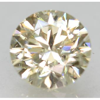 Certified 0.83 Carat J VVS2 Round Brilliant Enhanced Natural Diamond 5.99mm 3EX