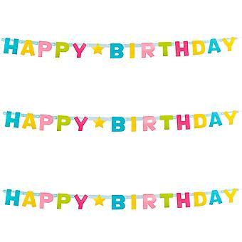 Letter Banner 150cm: Happy Birthday