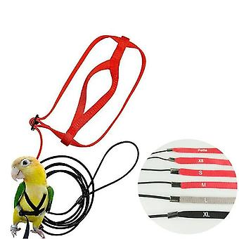 Adjustable Parrots Bird Harness Leash Anti Bite Training Rope Outdoor Flying