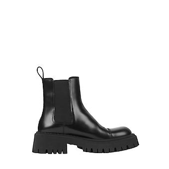 Balenciaga 636599wa8e91000 Men's Botas pretas de tornozelo de couro