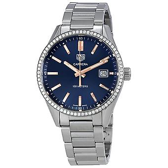 Tag Heuer Carrera Blue Dial Diamond Ladies Watch WAR1114. BA0601