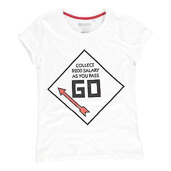 Hasbro Monopoly GO T-Shirt Male Small White (TS511173HSB-S)