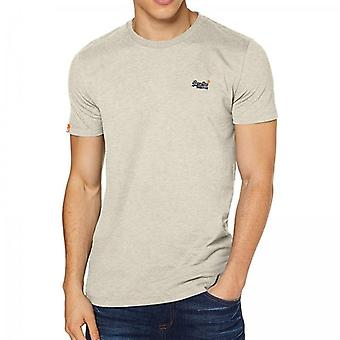 Superdry OL Vintage Embroidery SS T-Shirt Oatmeal 3EE