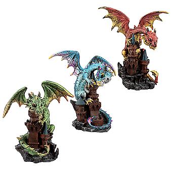 Castle Protector Elements Dragon Figurine X 1 Pack