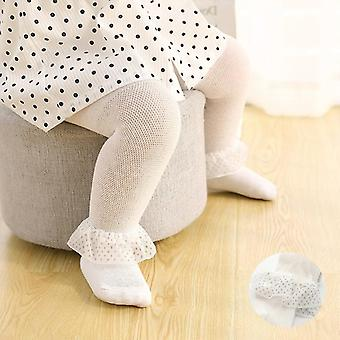 Kids Pantyhose Lace Bow Flower Hosiery Kids Stockings Summer Mesh Tights