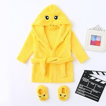 الشتاء لطيف حمام دافئ الرضع الكرتون الدب الأرنب الركبة طول هوديي