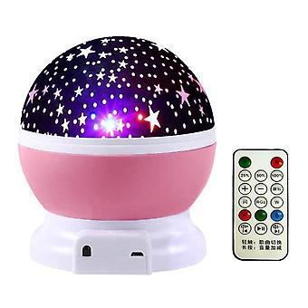 5v/2000ma Starry Galaxy Led Projection Bluetooth Night Lamp With Remote Control