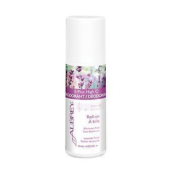 Aubrey Organics E Plus High C Roll-on Dezodorant, Zapach lawendy 3 Uncja