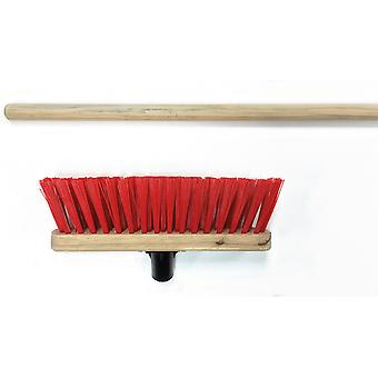 Home Label Stiff Red PVC Broom Head 290mm + Handle VR21HHL