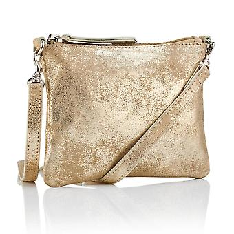 Hill & How Crossbody Pouch Bag | Gold Taupe