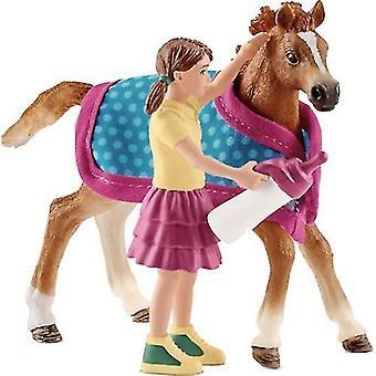 Schleich 42361 - Horse Club poulain avec couverture