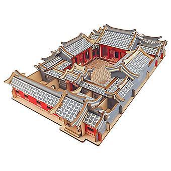 Çocuk zeka ahşap 179 parça 3D Bulmaca geliştirmek - Pekin Mahkemesi