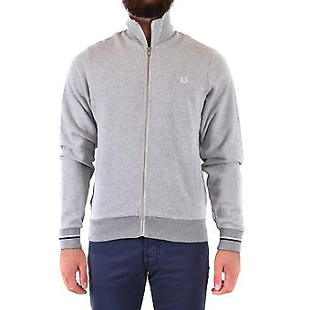 Fred Perry Ezbc094078 Men's Grey Cotton Sweatshirt