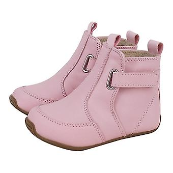 SKEANIE Toddler and Kids Leather Oxford Boots in Pink