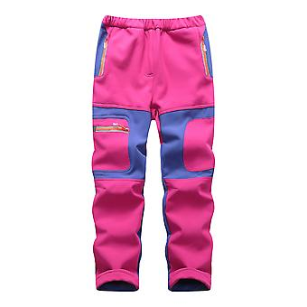 Waterproof Pants Warm Sporty Climbing Trousers, Patchwork Soft Shell Outfits