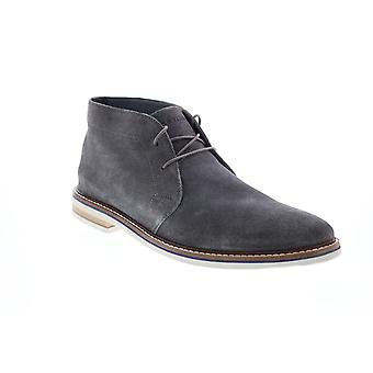 Bostonian Dezmin Mid  Mens Gray Suede Lace Up Chukkas Boots
