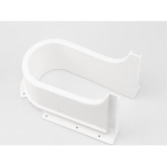 Muovinen U-muoto pesualtaan viemäriputken alla, kylpykaapin laatikko vedä kansi ulos