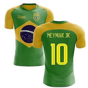 2020-2021 Brasilian lippu konsepti jalkapallopaita (Neymar Jr 10)