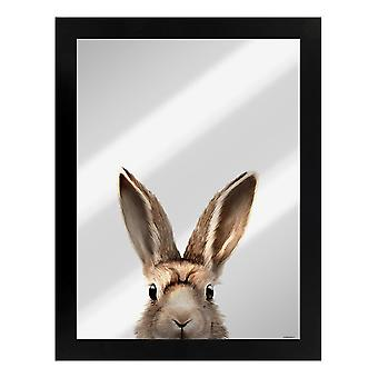Inquisitive Creatures Hare Mirrored Plaque