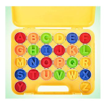 Letters Matching Eggs 26pcs Abc Alphabet Color Recoginition Sorter Puzzle Easter Travel Bingo Game