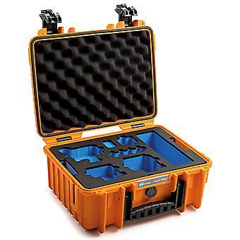 B&W GoPro Case Type 3000 para GoPro Hero 9 con inserto de espuma, naranja