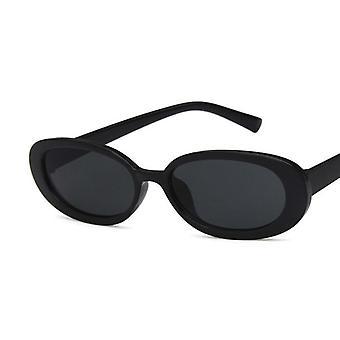 المرأة ريترو العلامة التجارية مصمم خمر القط النظارات الشمسية الوردي العين