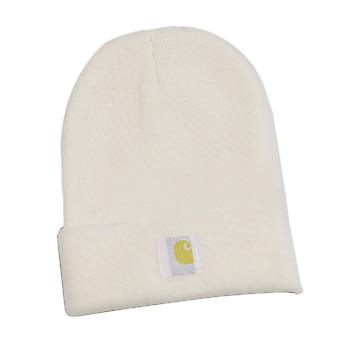 White Fashion Knitted Hat Keep Warm for Men Women Children Automne d'hiver