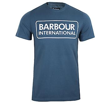 Barbour international men's large logo mid blue t-shirt