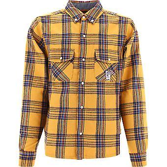 Billionaire B20420yellow Men's Yellow Polyester Shirt