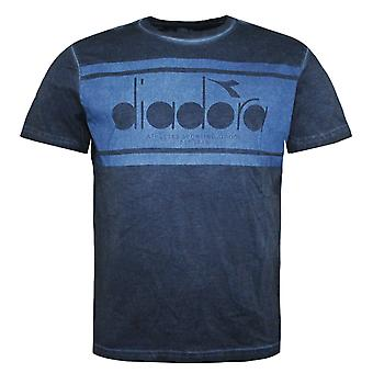 Diadora Mens T-Shirt Graphic Design Branded Top Blue 172677 60065