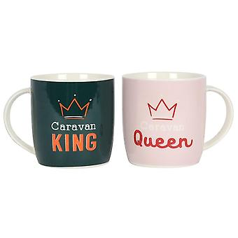 Something Different Caravan King and Queen Mug Set