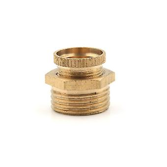 Air Compressor Male Threaded Water Drain Valve Brass Tone