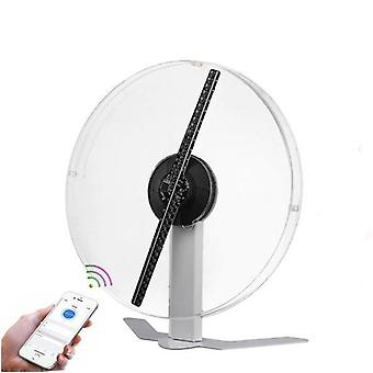 3d Holographic Fan Light Avec couverture acrylique