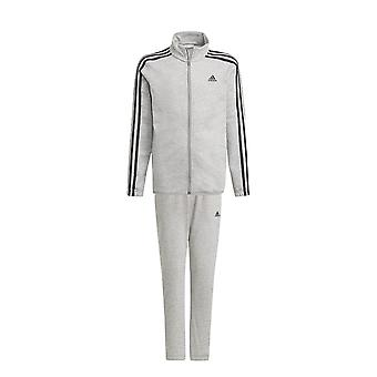 adidas Essentials French Terry Kids Full Zip Tracksuit Suit Set Grey