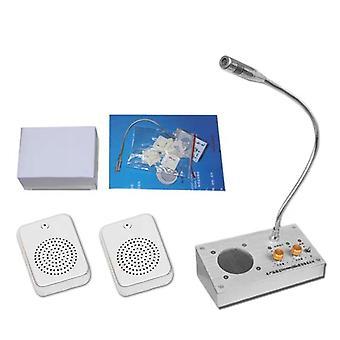 Windows Audio Record Intercom Interphone Speaker, Dual-Way Bank Office Store