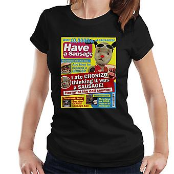 Sooty Sweep Have A Sausage Gossip Mag Parody Women's T-Shirt